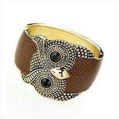 Brown owl hinged bangle