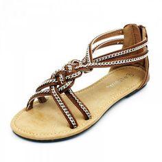 Braided Chain Sandals