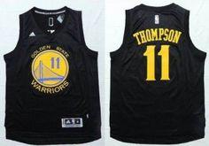 Golden State Warrlors #11 Klay Thompson Black Fashion Stitched NBA Jersey