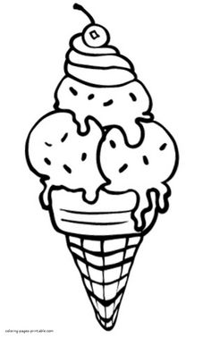 Beautiful Ice Cream Coloring Page