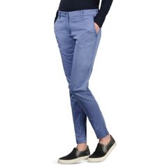 Napapijri Chinos (175 CAD) ❤ liked on Polyvore featuring pants, pastel blue, chinos pants, blue pants, chino trousers, pastel pants and napapijri