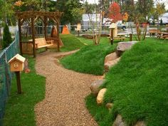 I love, love , love this playground! It is designed by a company called Natural Playgrounds.