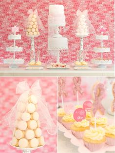 Free Pink October Party Printables, including cupcake toppers and thank you tags.