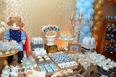 King + Prince themed birthday party with So Many Cute Ideas via Kara's Party Ideas | Cake, decor, recipes, favors, games, and MORE! KarasPartyIdeas.com #kingparty #princeparty #littleprince #partyplanning #partydesign #partyideas (3)