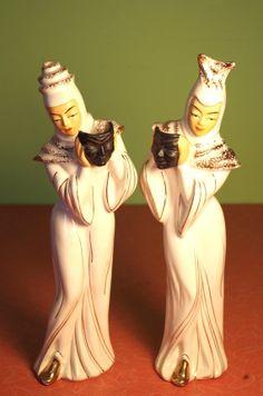 MidCentury Modern 1950s Vintage Asian Ceramic by retrowarehouse, $65.00