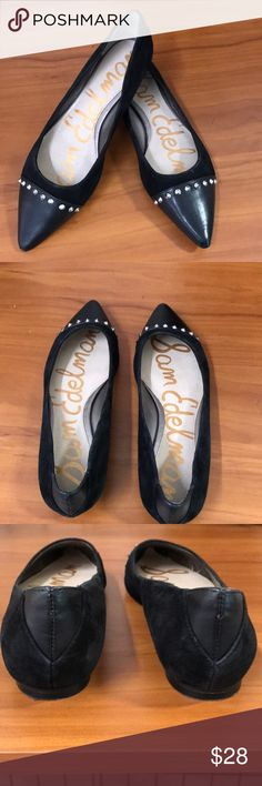 Sam Edelman flats Two tone flats leather and velvet  use but in good condition Sam Edelman Shoes Flats & Loafers