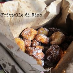 A special rice fritter called Frittelle di Riso.  Read more: http://www.divinacucina-blog.com