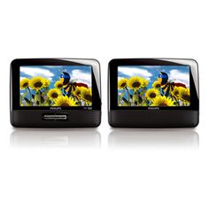 """Philips 7"""" LCD Dual Screen Portable DVD Players"""