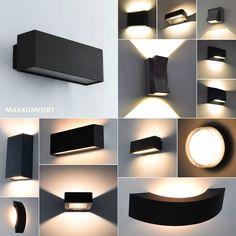 LED Außenleuchte Wandleuchte Außenlampe Schwarz Gartenleuchte Aussenwandlampe | eBay