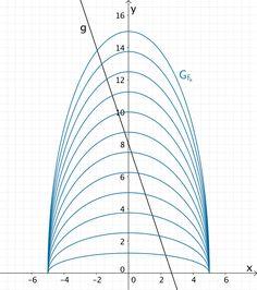 Kurvenschar der Funktionenschar f und Gerade g