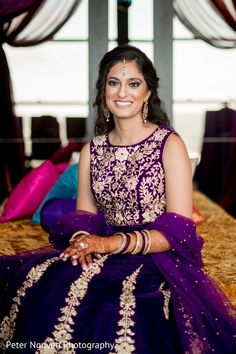 Beautiful indian bride at sangeet ceremony http://www.maharaniweddings.com/gallery/photo/95475 @peternguyen1