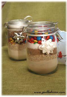 Christmas Cookies in a Jar Christmas Cookies, Christmas Diy, Xmas, Easy Handmade Gifts, Cookie Jars, Mason Jars, Deserts, Pudding, Crafts