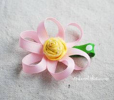 loopy ribbon flower tutorial 027