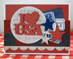 4th of July party invitation #Cricut