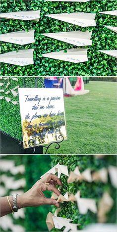 紙飛行機がおしゃれ♡結婚式のおしゃれエスコートカード一覧♡ウェディング・ブライダルの参考に♪