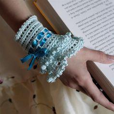 Crochet Layered Lace Cuff  PDF PATTERN ♥ by PatternsbyMarianneS, $3.75