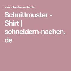 Schnittmuster - Shirt | schneidern-naehen.de