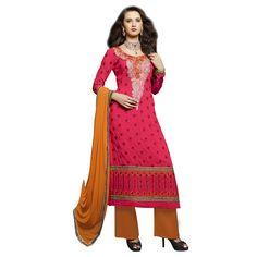 http://www.thatsend.com/shopping/lp/fvp/TESG4868/i/TE15826/iu/pink-georgette-salwar-kameez  Pink Georgette Salwar Kameez Apparel Pattern Embroidered. Occasion Diwali, Sangeet. Style Designer. Stiching Type Semi Stitched. Work Machine Work.