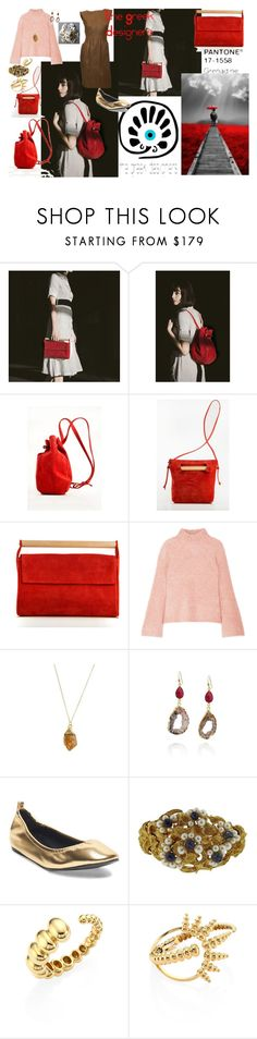"""The Grenadine Bag - Pantone 17-1558 Grenadine"" by kayce35 ❤ liked on Polyvore featuring Meraki, Ulla Johnson, Lanvin, Lalaounis, Nikos Koulis, Norman Norell, thegreekdesigners, grenadinebag and greekbags"
