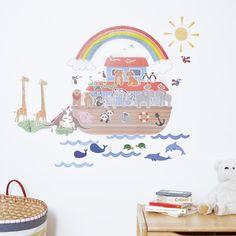Noahs Ark Printed Wall Decal Wallums Noahs Ark Nursey - Wall decals noah's ark