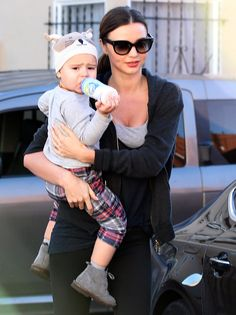 Miranda Kerr Heading to the Gym With Flynn Bloom