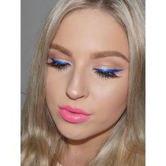 Blue liner and crimped hair  http://youtu.be/bfKXjO-0UQo  new videos now up on both of my channels  #shaaanxo