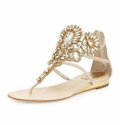 Rene Caovilla Chandelier Swarovski Crystal Thong Sandal