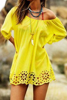 Slash Neck Chiffon Dress