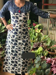 Salwar Neck Designs, Churidar Designs, Kurta Neck Design, Kurta Designs Women, Dress Neck Designs, Blouse Designs, Kurtha Designs, Kalamkari Dresses, Simple Kurti Designs