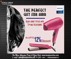 Buy #Hairdryer & #Straighter Online at Best Prices! #TanejaGroup For best deals visit- http://tanejasonline.com/product-category/electricals-and-appliances/irons-dryers-straightners/