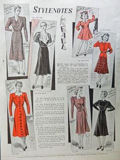 Fashions  Print Ad  30 s Color Illustration  stylenotes  1938 the Farmer s Wife Magazine Art