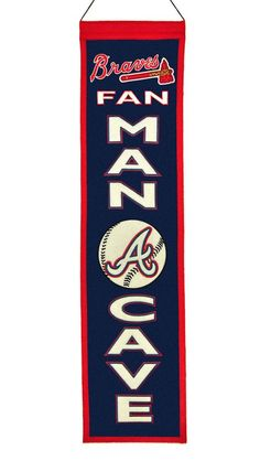 Atlanta Braves Wool Man Cave Banner