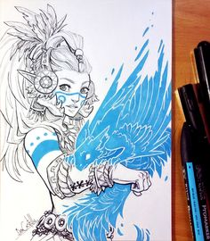 """I'm drawing different clans for my personal comic project """"Dandelion""""."""
