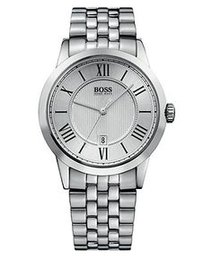 Hugo Boss Watch, Mens Stainless Steel Bracelet H1004 - All Watches - Jewelry & Watches - Macys