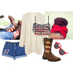 """""""4th of July Outfit!"""" by flirtwithdurango on Polyvore 