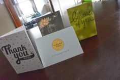 Thank you cards for a loving support team.