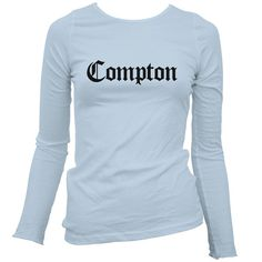 Hey, I found this really awesome Etsy listing at https://www.etsy.com/listing/187521434/womens-compton-ls-t-shirt-gothic-la-long