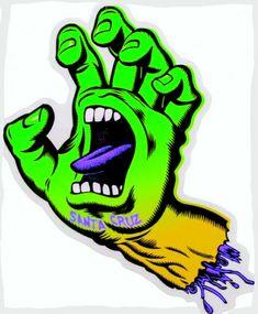 Santa Cruz Logo, Hand Logo, Skateboard Art, Skateboarding, Hands, Artwork, Fictional Characters, Skate Art, Work Of Art