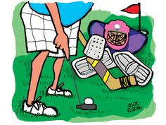 Fore! Golfers beware. Jan Igoe is about to tee off on your favorite sport.