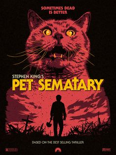 """My father used to have a saying, Jud. God sees the truth."" Pet Sematary fan poster is purrrfect Horror Icons, Horror Movie Posters, Movie Poster Art, Fan Poster, Arte Horror, Horror Art, Funny Horror, Arte Zombie, Stephen King"