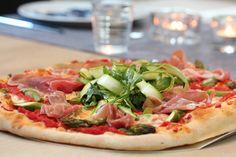 Pizza med asparges og spekeskinke Mozzarella, Vegetable Pizza, Vegetables, God, Allah