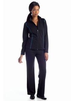 be inspired   Petite Track Pant Set with Contrast Trim