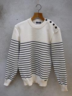 Breton Sailors Jumper – Binic ii by Saint James Wool - Cream & Navy Stripe Summer Sweaters, Sweaters For Women, Saint James, Navy Stripes, Knitwear, What To Wear, Jumper, Menswear, Pullover