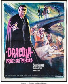 Horror Movie Posters, Horror Movies, Hammer Movie, Christopher Lee, 20th Century Fox, Prince Of Darkness, Count Dracula, Internet Movies, Gothic Horror