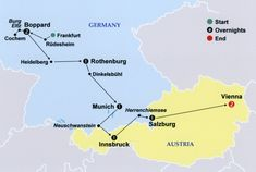 Trip Plan for Germany and Austria w/Castles