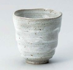 Seiji Hand-made 3inch Set of 2 Tea Cups Grey porcelain Made in Japan
