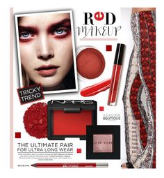 """Tricky Trend: Red Eye Makeup"" by seaside-boutique ❤ liked on Polyvore featuring beauty, Illamasqua, NARS Cosmetics, Urban Decay and Bobbi Brown Cosmetics"
