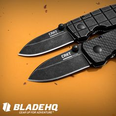 CRKT Grid and Carbon Fiber Squid Folding Knives