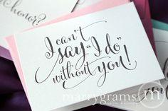 Will Sie werden meine Brautjungfer Karten kann ich von marrygrams, $24.00