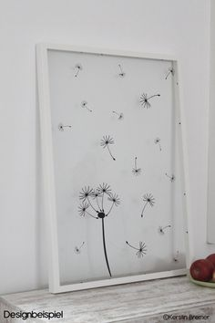 Plotterdateien Set Pusteblume - KerstinBremer.de. I ♥ it! Awesome! Dandelion in a picture frames. svg vinyl cut file.